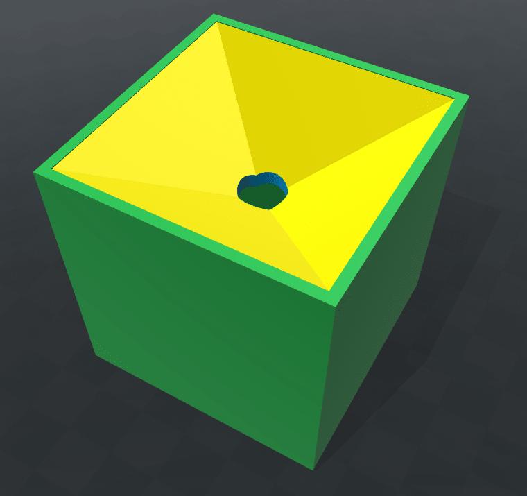Pflanzbox von oben mit Deckel.