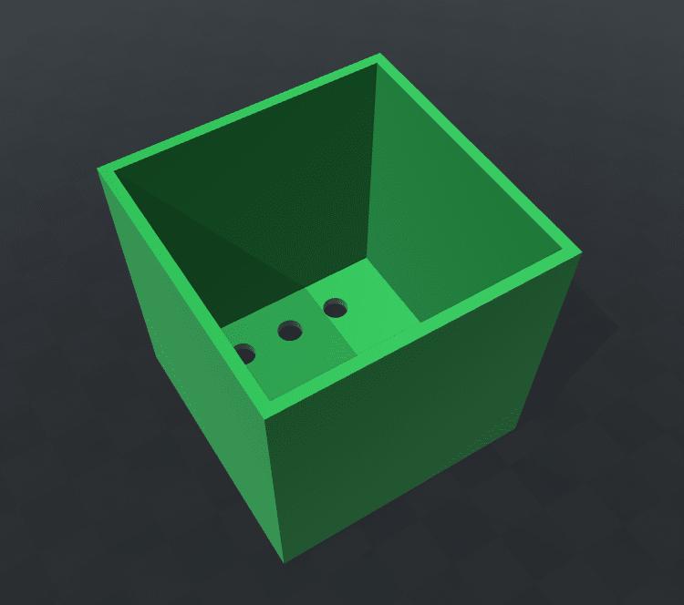 Pflanzbox von oben ohne Deckel.
